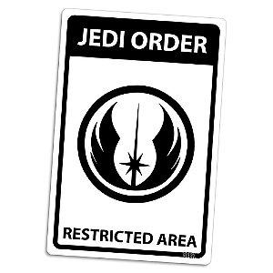 Placa Ordem Jedi Area Restrita