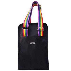 Bolsa Porta Vinho Garrafas Latas Térmica Arco Íris Pride
