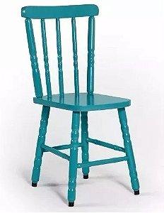 Cadeira Para Mesa Madeira Maciça Eucalipto Azul
