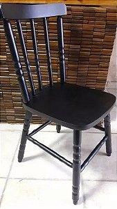 Cadeira Para Mesa Madeira Maciça Eucalipto Preto
