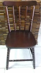 Cadeira Para Mesa Madeira Maciça Eucalipto Verniz
