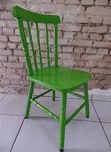 Cadeira Para Mesa Madeira Maciça Eucalipto Verde