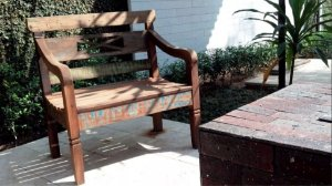 Banco Poltrona Rústico Demolição Jardim Indiano Peroba Rosa