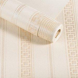 Papel De Parede Listras Dekor Importado Lavável Textura Em Relevo 7931