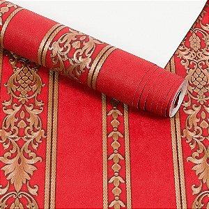 Papel de Parede Importado Vinílico Lavável Textura em Relevo Listrado 5816