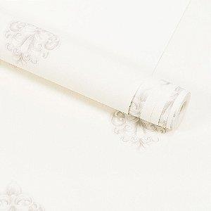Papel de Parede Importado Vinílico Lavável Textura em Relevo Arabesco 8111