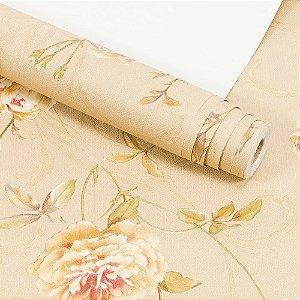 Papel de Parede Importado Vinílico Lavável Textura em Relevo Floral 8025