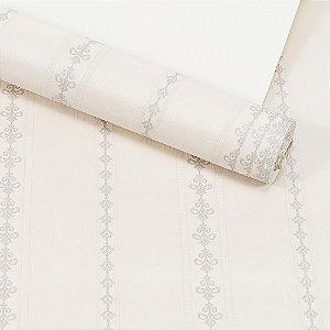 Papel de Parede Importado Vinílico Lavável Textura em Relevo Listrado 81142