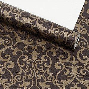 Papel de Parede Dekor Importado Lavável Textura Em Relevo Arabesco 66019