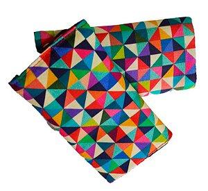 KIt Protetor de alças de ErgoSlingaê Triângulos (do Caqui e Jeans)