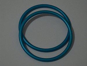 Argola avulsa de alumínio anodizado, cor Azul