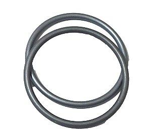 Argola avulsa de alumínio anodizado, cor Cinza