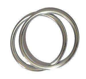 Argola avulsa de alumínio anodizado, cor Prata