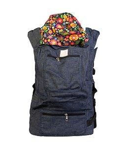 ErgoSlingaê Toddler Jeans Flores (A partir de 22 meses)