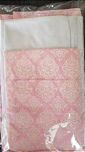 kit lençol de berço Trully pink