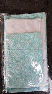 kit lençol de berço Trully Green