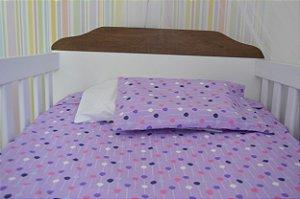 kit lençol de berço (Padrão Americano) Purple Baloon