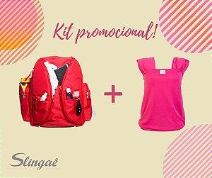 kit Promo RN 004: Mochilaê + Wrap Sling DryFit (Cores a escolher)