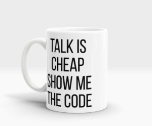 Caneca Talk is cheap show me the code