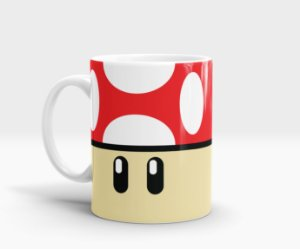 Caneca Cogumelo Mario - Super Mushroom