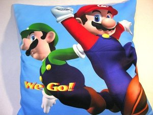 Capa de almofada Mario e Luigi