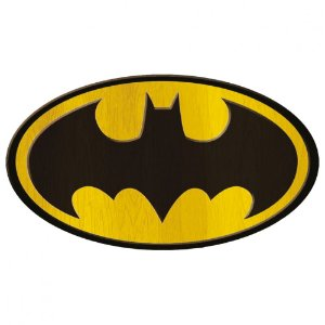 Placa de madeira Batman logo - DC Comics