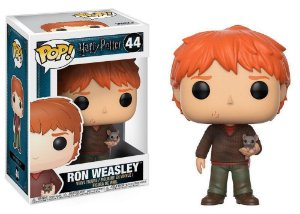 Estatueta Funko Pop! Harry Potter - Ron Weasley w/ Scabbers