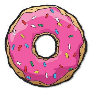 Placa Decorativa 30x30 - Donuts