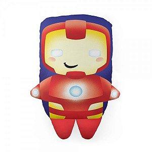 Almofada Decorativa Marvel Iron Man Homem de Ferro Avengers Temática Para Quarto Sala