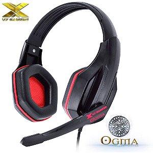 Headset Gamer VX GAMING OGMA Vermelho Fone de Ouvido