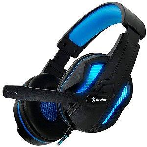Headset Gamer EVOLUT THOTH EG-305BL Azul Fone de Ouvido