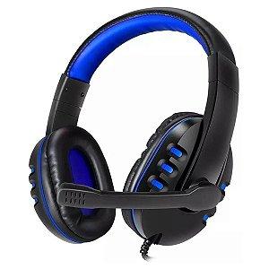 Headset Gamer EXBOM SUPER BASS HFG230 Azul Fone de Ouvido