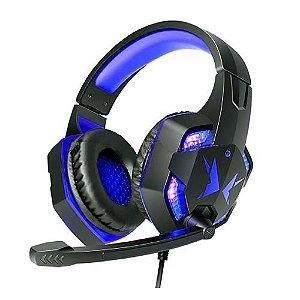 Headset Gamer EXBOM SUPER BASS HFG600 Azul Fone de Ouvido