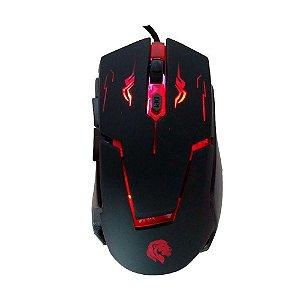 Mouse Gamer HAYOM MU2910 RGB 2400 DPI 6 Botões PRO