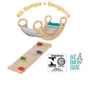 Kit Gangorra de Balanço Candy Colors + Rampa de escalada e escorregar