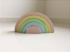 Arco-íris 5 peças Pastel em Madeira