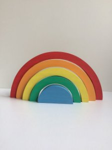 Arco-íris 5 peças Tradicional em Madeira