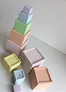 Cubos de Encaixe Pastel