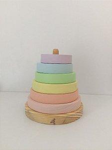 Torre de Encaixe Pastel