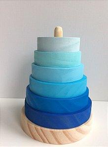 Torre de Encaixe degradê azul