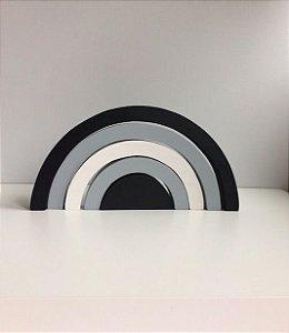 Arco-íris 5 peças P&B