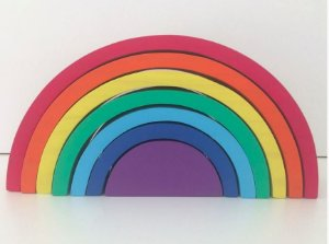 Arco-íris Waldorf 7 peças Grande