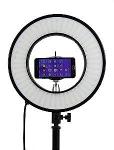 Ring  Light 33 cm de diametro - Iluminador Refletor 25w - Com Suporte para Celular e Articulação - Foto Make up