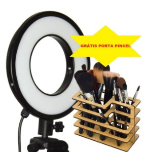 Iluminador LED Ring Light 25w - Luz da Lua - 28cm Diâmetro - Foto e Make