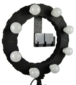Iluminador LED Ring Light LDV45 PRETO - 45cm Diâmetro - Foto e Make