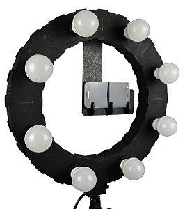 Iluminador LED Ring Light LDV45 PRETO - 45cm Diâmetro - Foto e Make