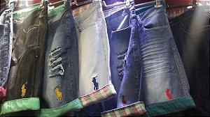 20 Peças - Bermudas Jeans Masculinas ** 34 ao 48