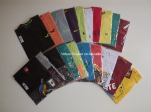 Kit 20 camisetas Estampadas