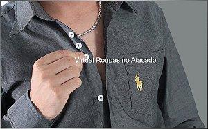 Camisa Social Masculina - Kit 5 Peças