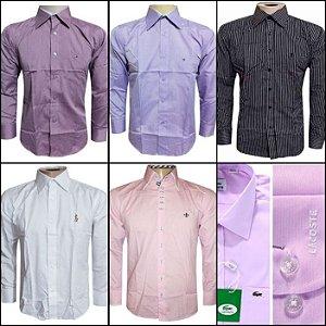 Camisa Social Masculina - Kit 10 Peças